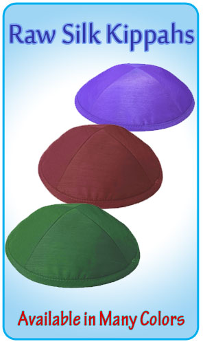 Raw Silk Kippahs