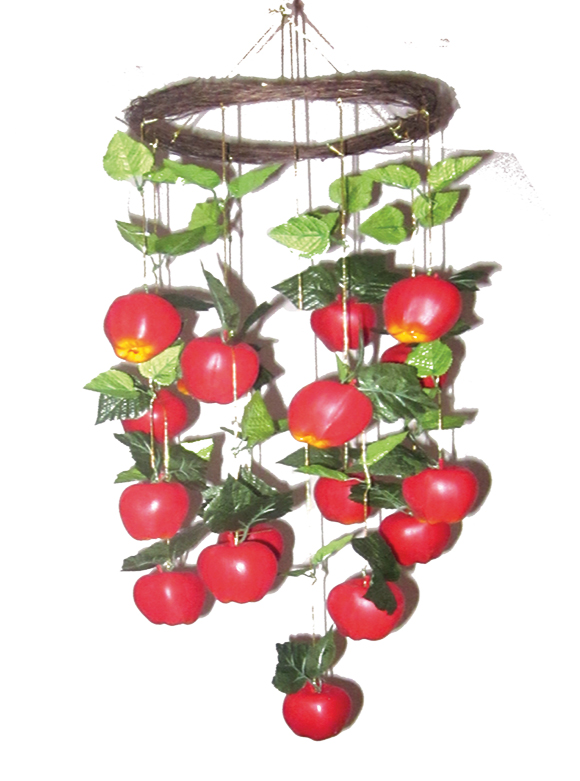 Jew Detector: Large Apples Chandelier Sukkah Decoration