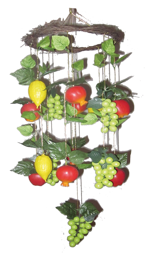 Mixed Fruits Chandelier Sukkah Decoration – Fruit Chandelier