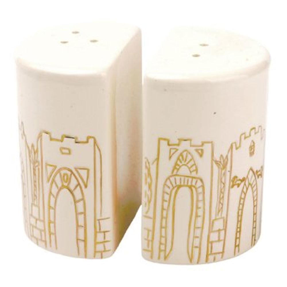 Porcelain Salt Pepper Shakers Jerusalem Gates