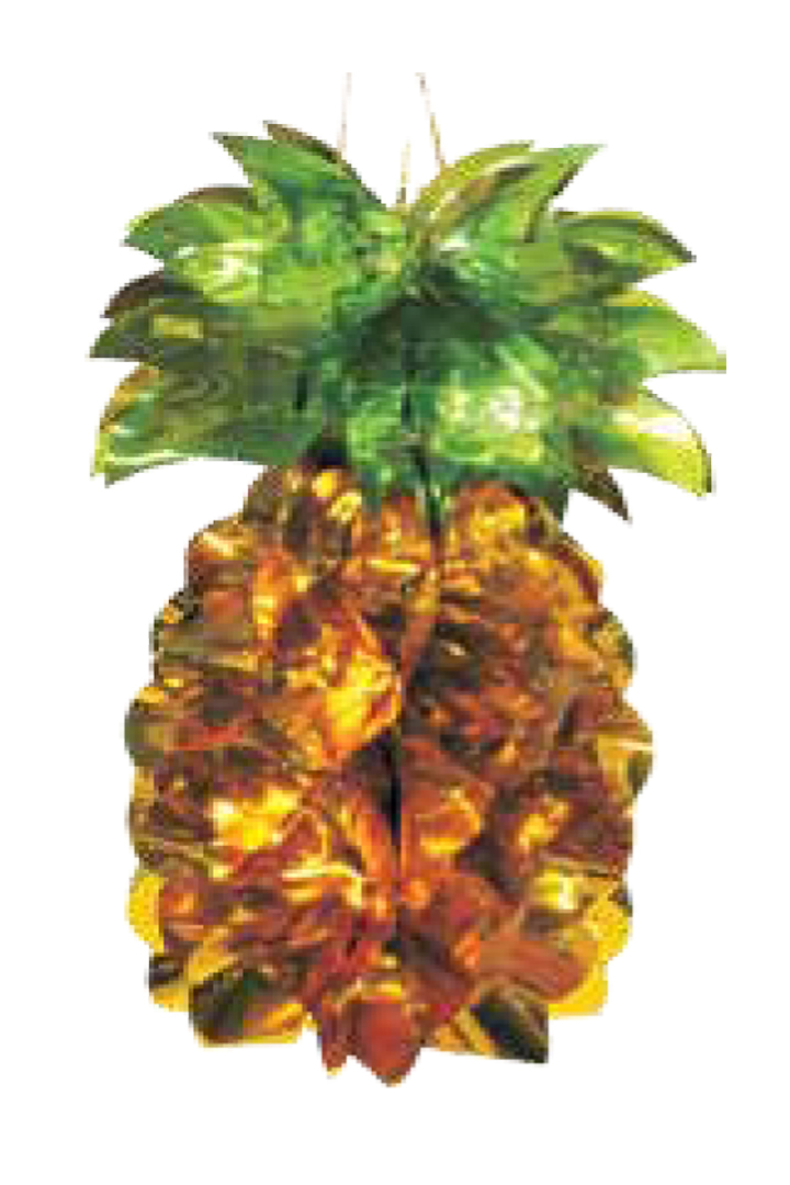 Foil pineapple sukkah decoration for Ananas dekoration