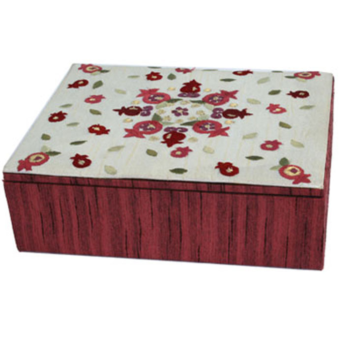 Jewelry Box Pomegranates Red
