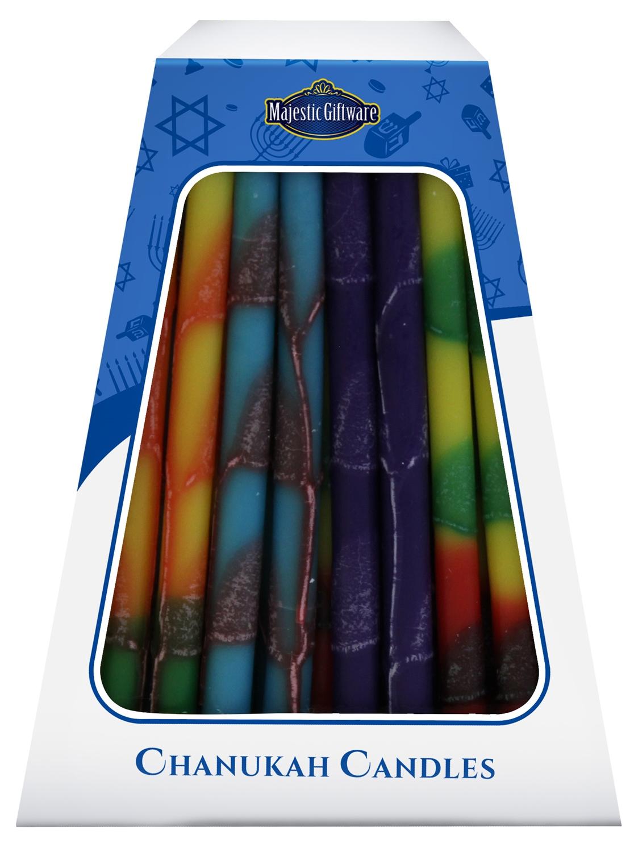 Multi Color Hanukkah Candles / 45 Pack