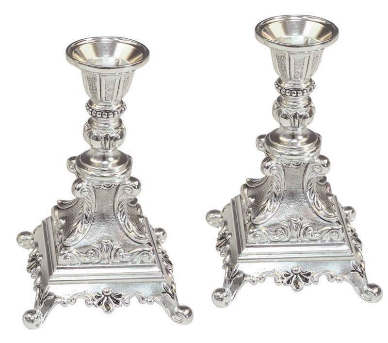 sc 1 th 211 & Silverplated Candlestick Holders / Set of 2