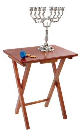 wood menorah folding stand table