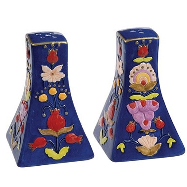 Ceramic Salt And Pepper Shaker Oriental Design