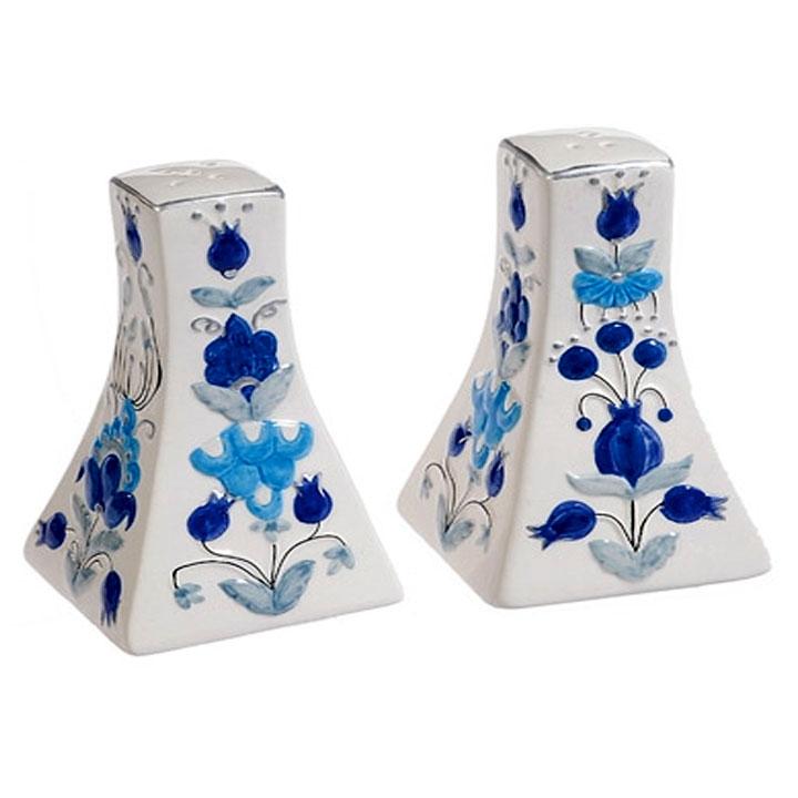 Ceramic salt and pepper shaker oriental white design Designer salt and pepper shakers