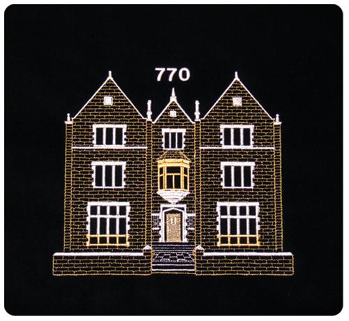 770 design chabad metallic threading velvet tallit for Architecture 770