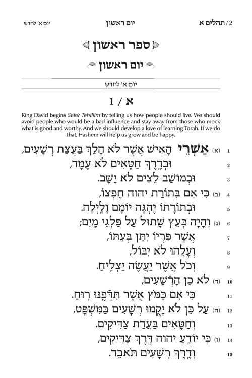 Chinuch Rinas Eliyahu Tehillim
