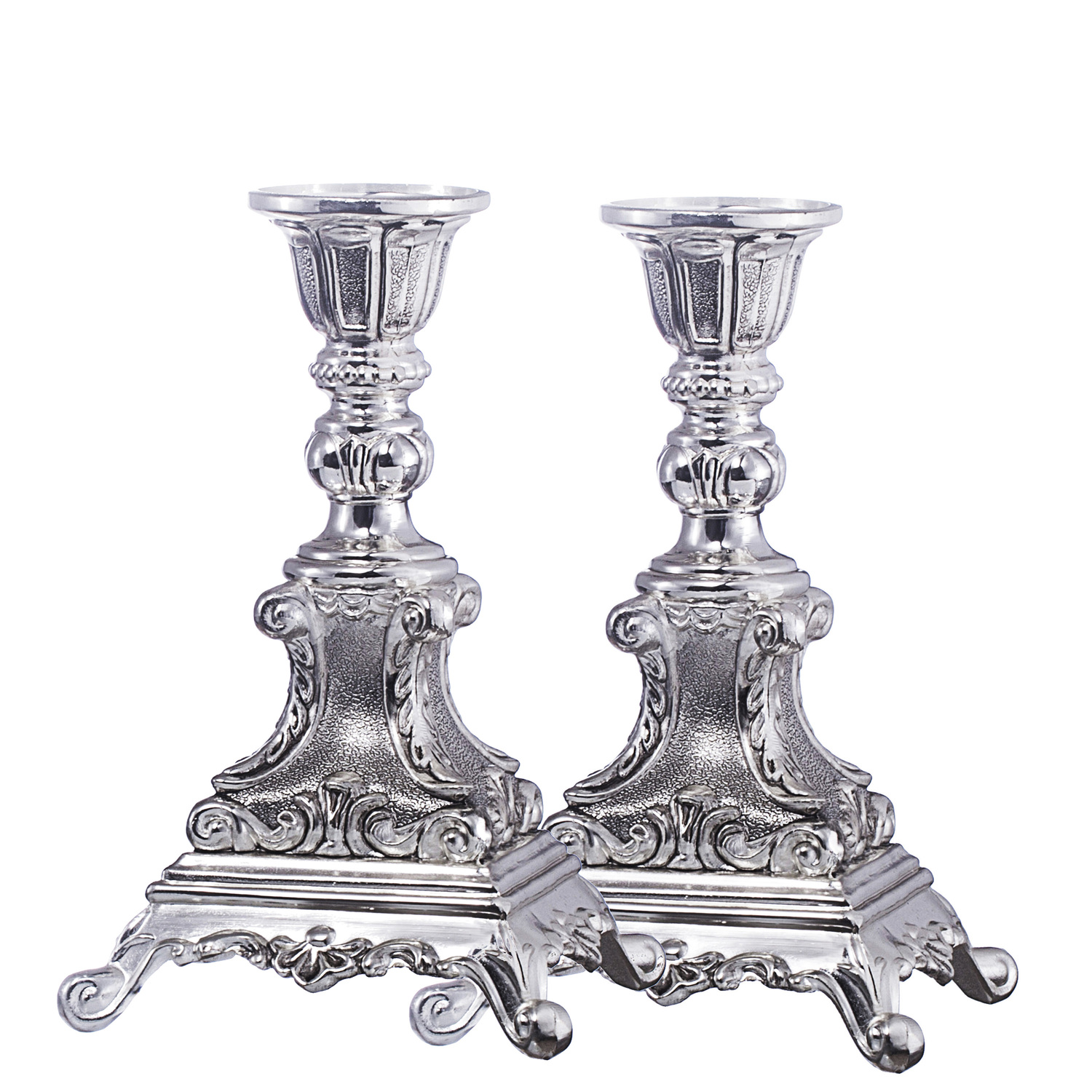 Elaborate Design Silver Plated Candle Holder Set  sc 1 th 225 & Design Silver Plated Candle Holder Set