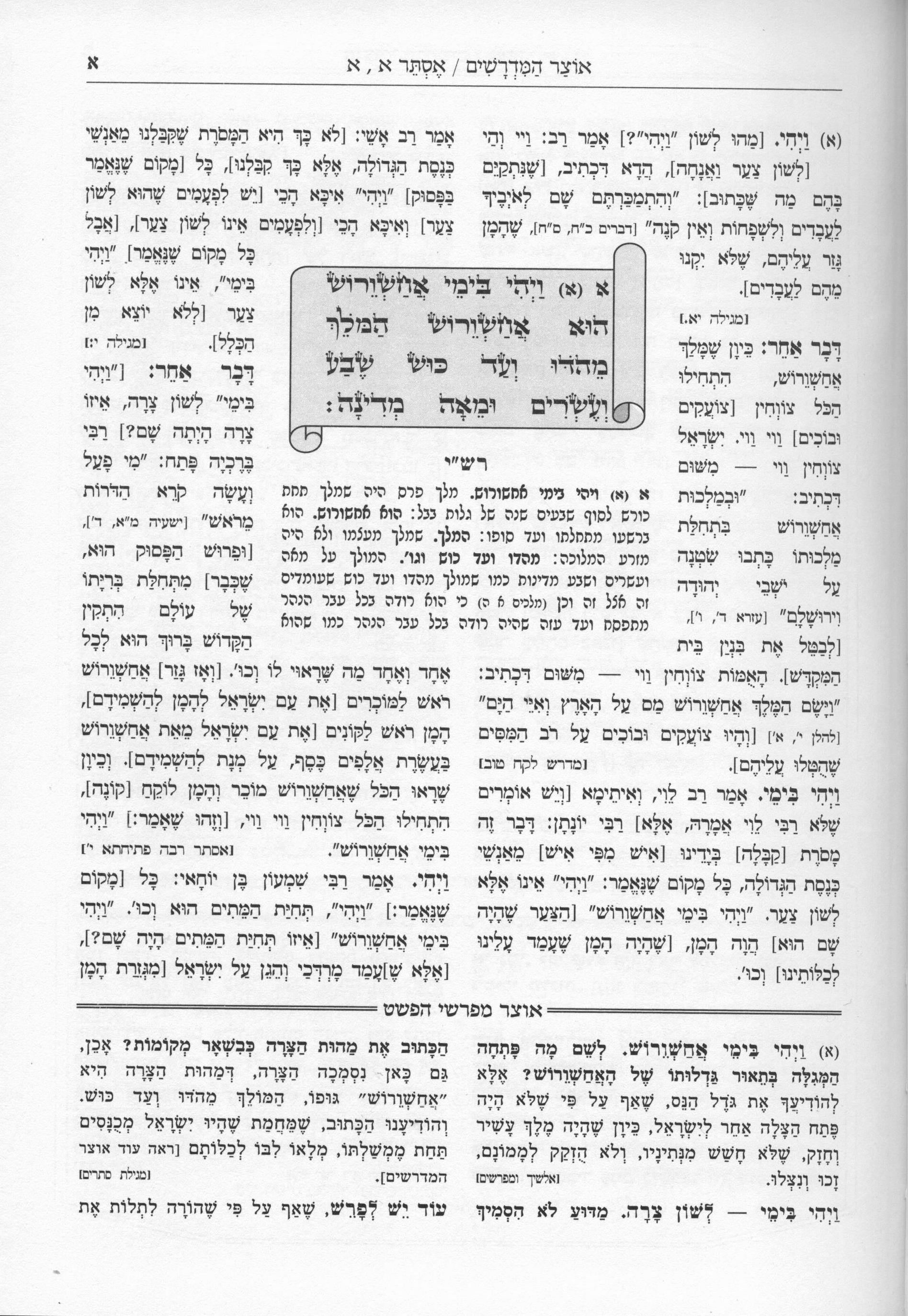 Otzar Hamidrashim on Megillas Esther