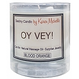 Destiny Candle with Jewelry � Oy Vey � Blood Orange 8 oz Glass Candle