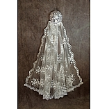 Queen Esther  Wedding Shawl With Matchng Kippah