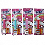 Hello Kitty Dispenser in Blister Pack with 3 Kosher Pez Refill Candies