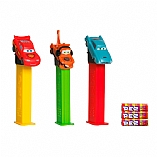 Disney Cars Dispenser in Blister Pack with 3 Kosher Pez Refill Candies