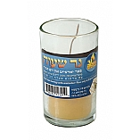 1 Day Beeswax Yahrzeit Memorial Candle in Glass Cup