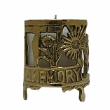 Brass Memorial Yahrzeit Candle Holder on Legs