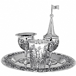 Jerusalem Havdalah Set Silver Plated