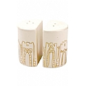 Porcelain Salt & Pepper Shakers - Jerusalem Gates