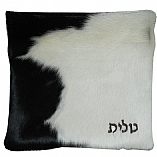 Black and White Cowhide Fur Tallit / Tefillin Bag