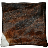 Dark Brown and White Cowhide Fur Tallit / Tefillin Bag