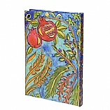 Hardcover Large Bound Notebook in Pomegranate Design