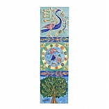Decorative Bookmark in Peacock Fish and Tree Design