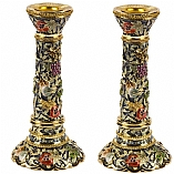 Jeweled Candlestick Holders / Seven Species