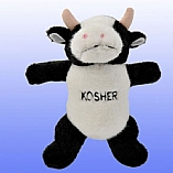 Plush Kosher Cow Chewish Squeak Treat Toy