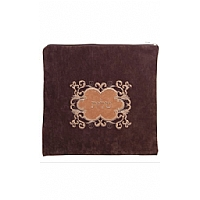 Suede Feel Emblem Design Print Tallit / Tefillin Bag in Brown