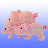 Plush Trayf the Pig Chewish Squeak Treat Toy