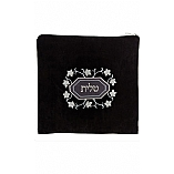 Suede Feel Floral Design Print Tallit / Tefillin Bag in Black