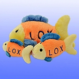 Plush Lox Fish Chewish Squeak Treat Toy