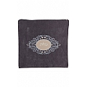 Suede Feel Emblem Design Print Tallit / Tefillin Bag in Grey