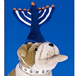 Plush Menorah Pet Hat