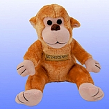 Plush Meshugeneh the Monkey Chewish Squeak Treat Toy