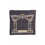Suede Feel Arch Design Print Tallit / Tefillin Bag in Grey