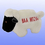 Plush Baa Mitzvah Lamb Chewish Squeak Treat Toy