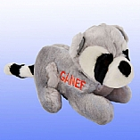 Plush Ganef the Racoon Chewish Squeak Treat Toy
