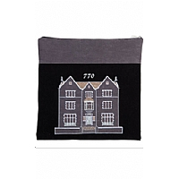 Suede Feel 770 Design Print Tallit / Tefillin Bag in Black