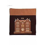 Suede Feel 770 Design Print Tallit / Tefillin Bag in Brown