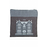 Suede Feel 770 Design Print Tallit / Tefillin Bag in Grey