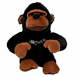 Plush Macher the Mountain Gorilla Chewish Squeak Treat Toy