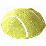 Tennis Ball Suede Leather Kippah