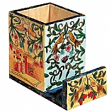 Hand Painted Wood Organizer / Jerusalem Oriental