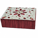 Embroidered Jewelry Box / Pomegranates Red