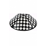 Checkerboard Fancy Foil Embossed Leather Kippah