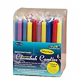 Decorative Multicolor Hanukkah Candles Value Pack of 90 Candles