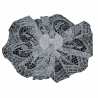 Women's Lace Head Covers With Bow and Comb