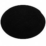 Hand Knitted Kippah - Black / DMC Fine Knit